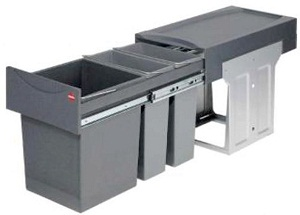 Double Pull Out Waste Bin